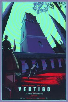 Affiche américaine de Vertigo (Alfred Hitchcock, 1957) par Laurent Durieux