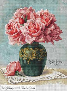 Gallery.ru / Фото #1 - Розы в вазе - appolinaria74