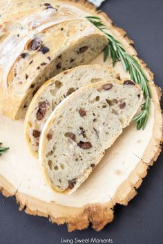 This amazing Rosemary Olive Bread Recipe has a nice crust on the outside and chewy on the inside. Better than any bakery. Enjoy a few slices with olive oil.
