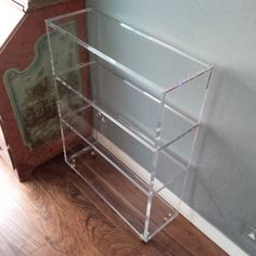 18 best Acrylic storage images on Pinterest   Acrylic furniture     Carewjones co uk Ltd   Acrylic shelving unit with silver castors  Ideal for