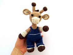 Many thanks to Kate E. Hancock for a great pattern! I love this giraffe) For giraffe: I used thread to embroider various shades of brown. I divided the thread for embroidery into three parts (2 t...