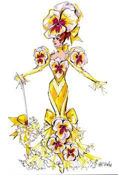 "Flora Dora ""Pansy"" costume by Bob Mackie"