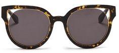 Stephane + Christian 'Dali' inset metal rim tortoiseshell acetate sunglasses