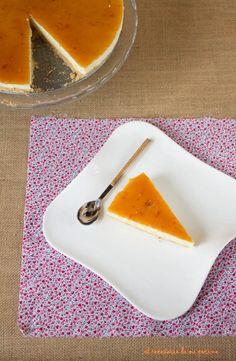 Tarta de queso al limón con cobertura de mermelada   El recetario de mi cocina