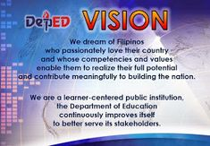 Department of Education Manila: Vision, Mission and Core Values Classroom Rules Poster, Classroom Signs, Classroom Quotes, English Classroom Decor, Teacher Classroom Decorations, Teacher Bulletin Boards, Classroom Board, Birthday Chart Classroom, Teacher Prayer