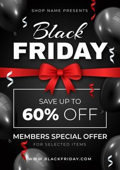 Realistic black friday flyer template. Download it at freepik.com! #Freepik #freevector #flyer #business #template Print Ads, Best Brand, Flyer Template, Cartoon Characters, Black Friday, Vector Free, Cool Things To Buy, Templates, Business
