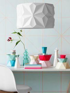 Les objets se parent eux aussi de motifs géométriques.