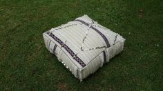 Moroccan Vintage Floor Cushions  inspired moroccan wedding blanket / Made From Hand Woven  wedding blanket
