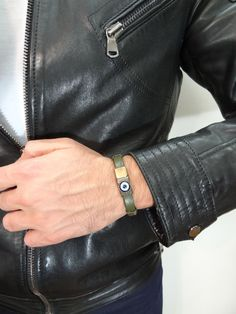 Excited to share the latest addition to my #etsy shop: Men Evil Eye Bracelet, Evil Eye Jewelry, Thick Leather, Leather Men, Leather Cuffs, Fathers Day Gifts, Olive Green, Fashion Bracelets, Happy Shopping