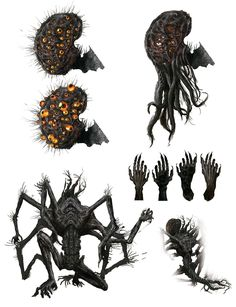 View an image titled 'Amygdala Body Parts Art' in our Bloodborne art gallery featuring official character designs, concept art, and promo pictures. Bloodborne Concept Art, Bloodborne Art, Monster Concept Art, Monster Art, Creature Concept Art, Creature Design, Arte Horror, Horror Art, Monsters