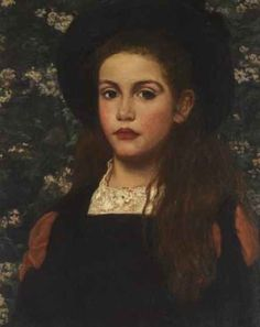 British Paintings: Anna Lea Merritt - Portrait of a Girl