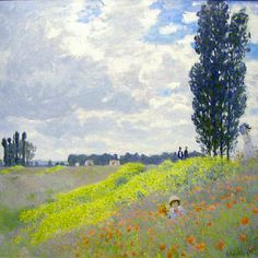 Walk in the Meadows at Argentuil, 1873. Claude Monet, Impressionism.