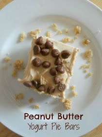 Ally's Sweet and Savory Eats: Peanut Butter Yogurt Pie Bars