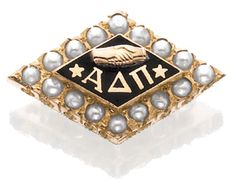Your pin is always a great accessory at Convention. Proud Alpha Delta Pi, Alpha Beta chapter. University of Iowa. Initiated Fall 2003.