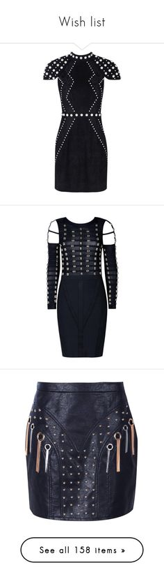 """""""Wish list"""" by officialnat ❤ liked on Polyvore featuring accessories, bandage cocktail dresses, cold shoulder cocktail dress, cut-out shoulder dresses, cold shoulder bodycon dress, cold shoulder dress, skirts, mini skirts, tassel skirt and studded mini skirt"""