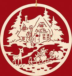Taulin Fensterbild Weihnachten Fam. Schneemann beim Rodeln