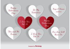 Free vector Valentines Day Paper Hearts #34550 Kiss Day, Web Design, Paper Hearts, Love You, My Love, Art Images, Vector Art, Are You Happy, Valentines Day