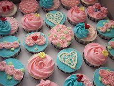 Pink & Blue Rose #Cupcake ♥