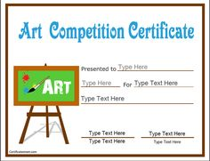 Certificate makerte idea to present to the kids if we have an education certificate art competition certificate certificatestreet yadclub Choice Image