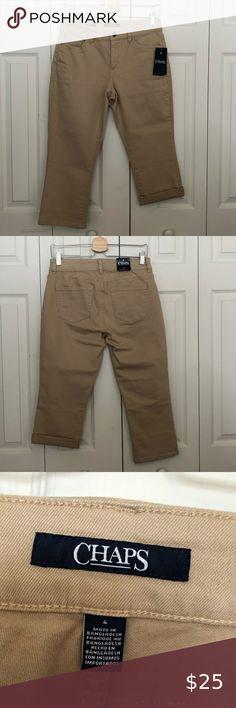 NWT ANN TAYLOR LOFT MATERNITY Khaki Capri Crop Pants Size 4 FREE SHIPPING