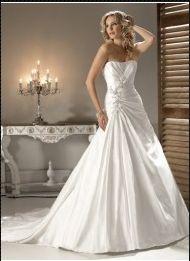robes de mariée de nouveau modèle de 2011 Sans bretelle wm0074