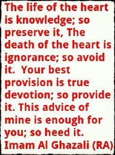 Imam Al Ghazali (RA) Islam Religion, Islam Muslim, Some Quotes, Wisdom Quotes, Arabic Quotes, Islamic Quotes, Imam Ghazali Quotes, Positive Vibes, Positive Quotes
