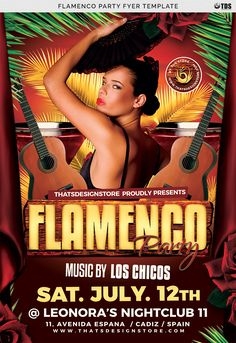 """Check out my @Behance project: """"Flamenco Party Flyer Template"""" https://www.behance.net/gallery/16484147/Flamenco-Party-Flyer-Template"""