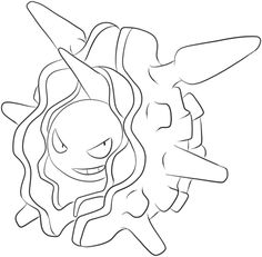 Cloyster Coloring page