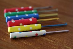 Tutorial for making polymer clay handles for crochet hooks