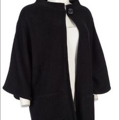 ❇️REDUCED✳️Beautiful Short Sleeved Jacket/Cape Absolutely stunning 1 Black and also have one in a Pumpkin color (price is for each) Short Sleeved Knit Jacket/Cape by Tally-Ho Sportswear. Beautiful one button closure just below necklineNWT❇️PRICE REDUCTION❇️ALSO COMES IN PUMPKIN (pics coming soon) Tally-Ho Sportswear Jackets & Coats