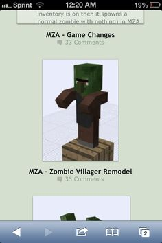 Minecraft ideas: zombie wasteland. All zombies, harder o kill but more weapons. Different kind of zombies from Redpanda on deviantart