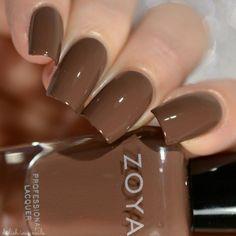 Zoya Naturel 3 – DeLishious Nails Mary - All For Hair Color Trending Neutral Nails, Nude Nails, Shellac Nails, Gel Nail Polish Colors, Nail Manicure, Essie Gel Couture, Zoya Nail Polish, Brown Nail Polish, Dipped Nails