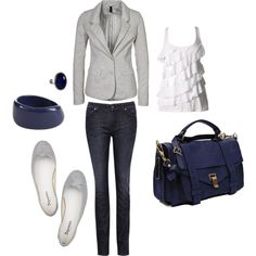 Gray and Navy blue <3