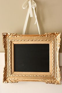 The Yellow Cape Cod: DIY Projects. Chalkboard in a gold frame