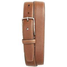 Men's Nordstrom Men's Shop Marlin Leather Belt ($70) ❤ liked on Polyvore featuring men's fashion, men's accessories, men's belts, brown, mens leather belts, mens brown leather belt, mens leather accessories, mens real leather belts and mens brown belt