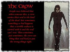 The Crow - great film and great book