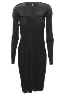 {Rick Owens Black Lillies Long Athena Jacket Black #style #fashion #women}