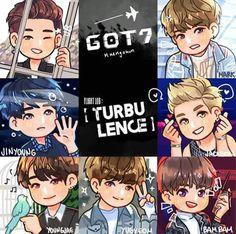 GOT7..my precious boys Youngjae, Yugyeom, Got7 Fanart, Kpop Fanart, Kpop Drawings, Cartoon Drawings, Jaebum, Jinyoung, Got7 Names