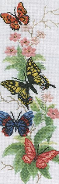 Buy Butterflies and Flowers Cross Stitch Kit Online at www.sewandso.co.uk