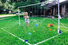 41 Ideas for backyard playground diy splash pad Kids Outdoor Play, Backyard For Kids, Backyard Projects, Outdoor Fun, Diy For Kids, Kids Yard, Backyard Ideas, Backyard Landscaping, Backyard Seating
