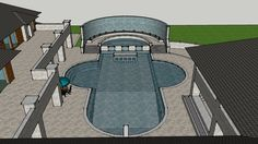 house and pool - 3D Warehouse