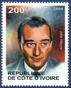 "Republique de Cote D""Ivoire stamp 2009 -John Wayne  Mint Unused"