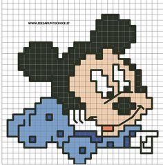 Ricami, lavori e centinaia di schemi a punto croce di tutti i tipi, gratis: Disney baby cross stitch- Paperino,Topolino, Minnie, Pluto