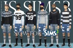 Men's Wear Collection by JS Sims 3 for Sims 3