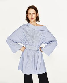 ZARA Poplin Tunic with Metallic Details / TempEdit_ ditch the belt when the belly pops and for post baby freedom