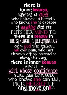 There is an inner beauty about a girl ...