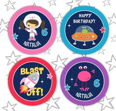 Toppers Cupcake, Cupcake Wrappers, Astronaut Party, Outer Space Party, Space Theme, Party Treats, Party Favors, Party Props, Favors