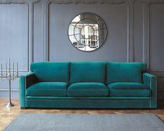 canap dandy velours bleu de maisons du monde qui va plaire laurence - Canape Bleu