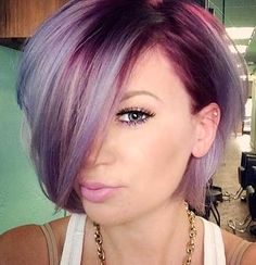 Great lavender and purple hair
