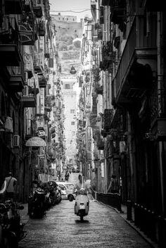 A Vespa in Napoli - how cool!